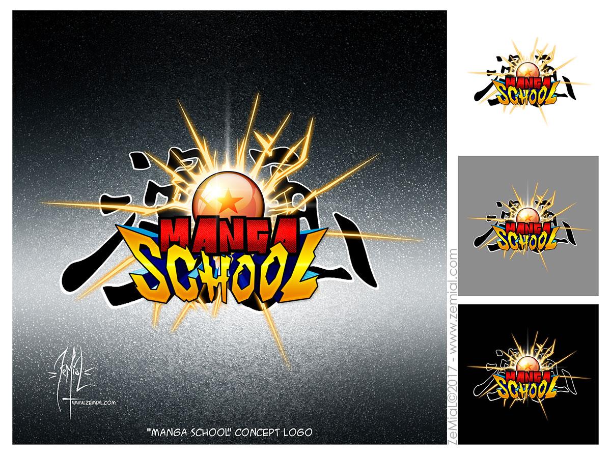Logo : Manga School