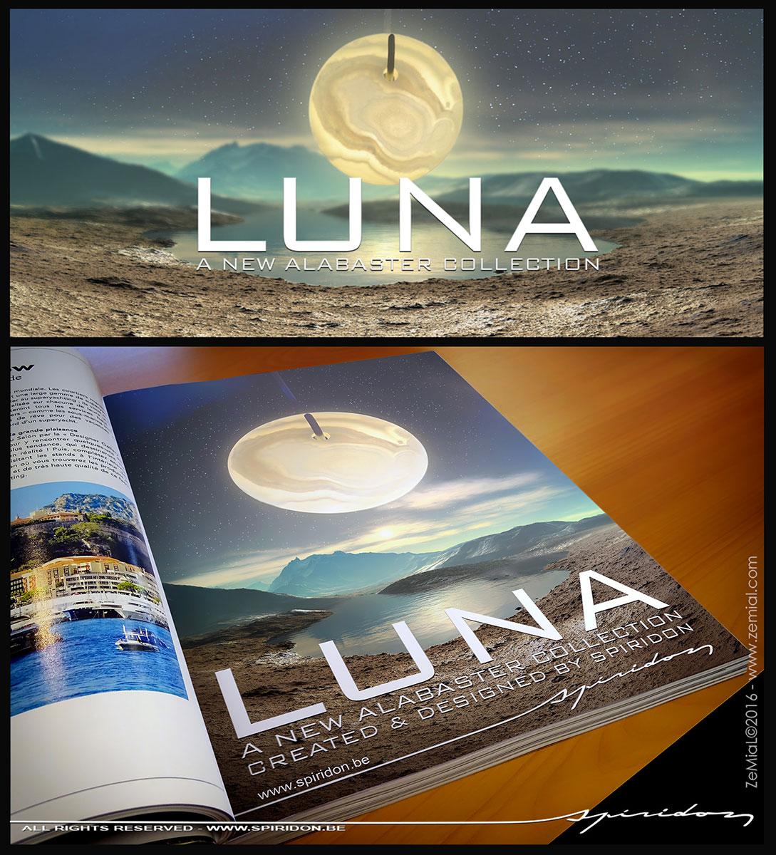 Publicité : Lustre Luna